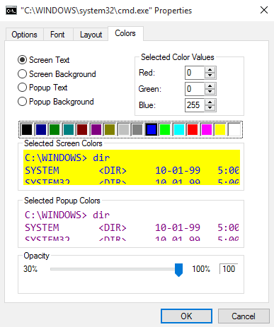 properties color