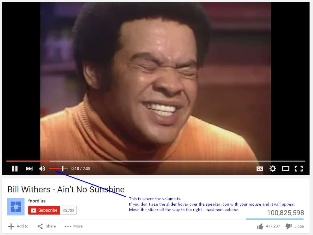youtube volume