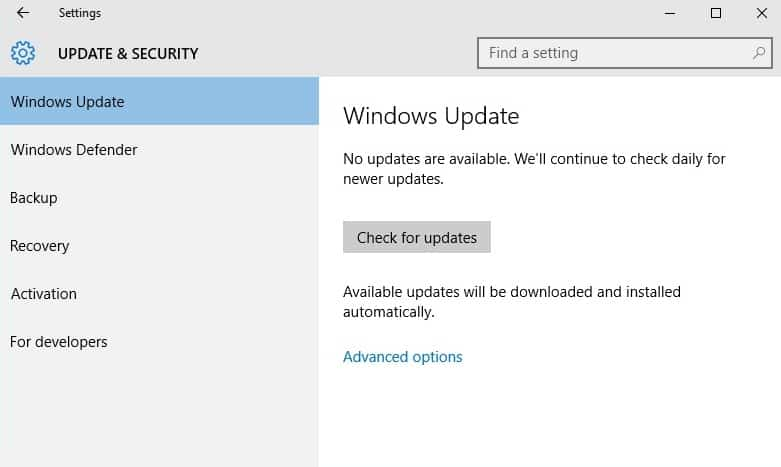 1 Windows Update