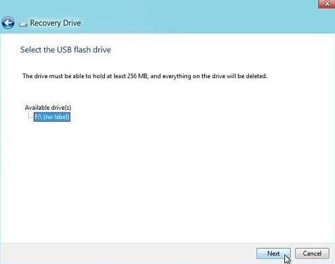 7_Select USB drive