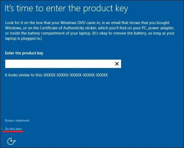 activate windows 10 with product key