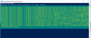 PowerShell window - Reinstall Windows Apps