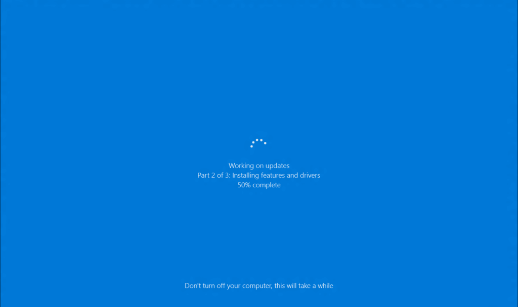 blue screen working on updates