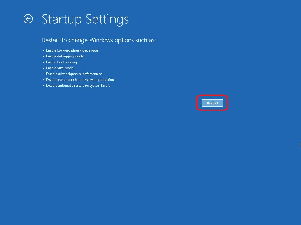 restart computer once again