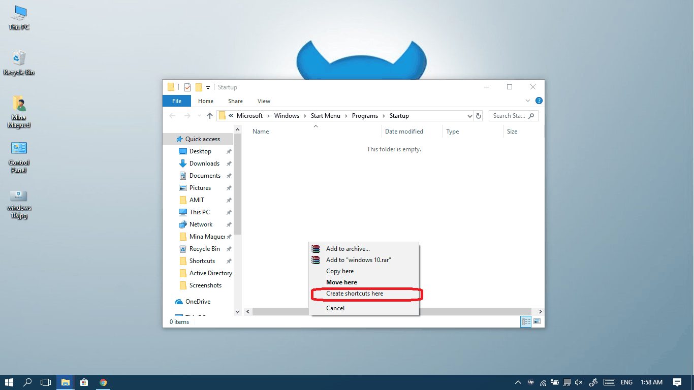 how to view startup programs in win 10