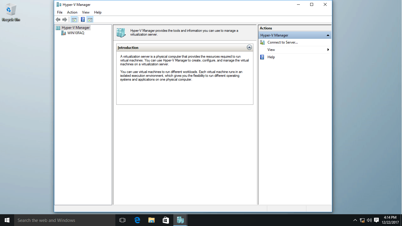 Enable Hyper-V on Windows 10 - Win10 FAQ