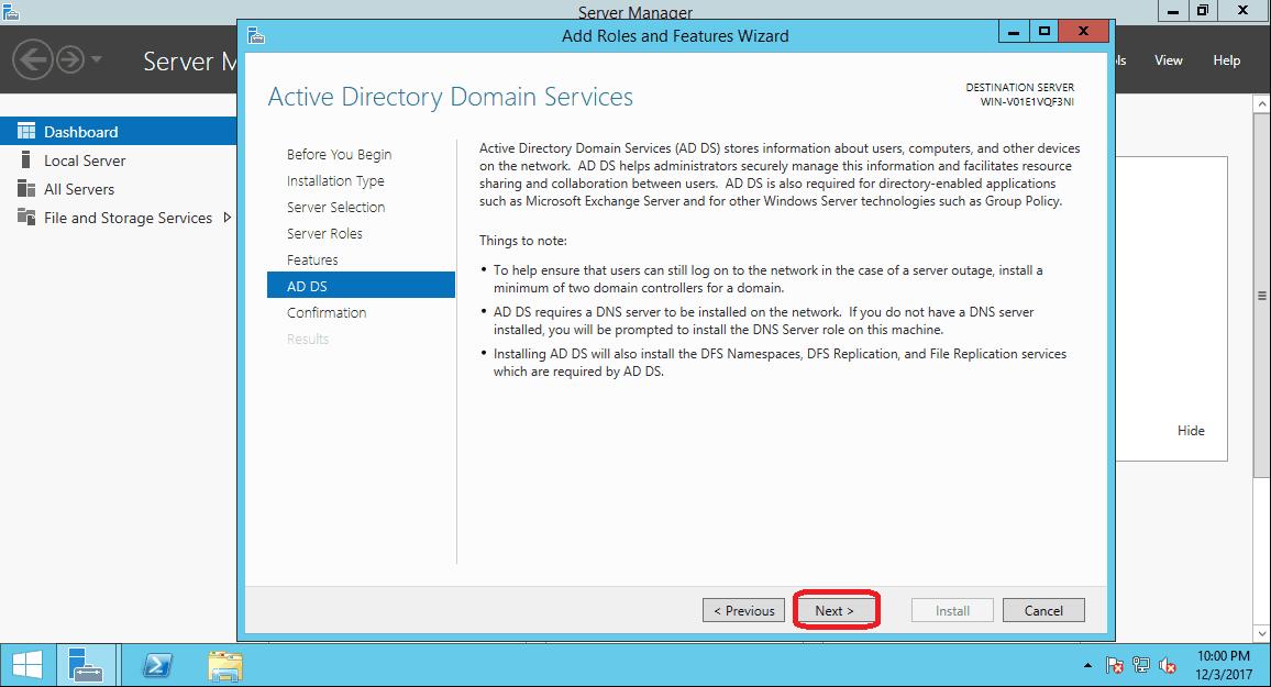 how to create a windows 10 server
