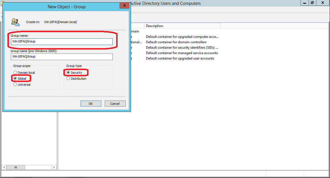 shortcut key to open active directory users and computers