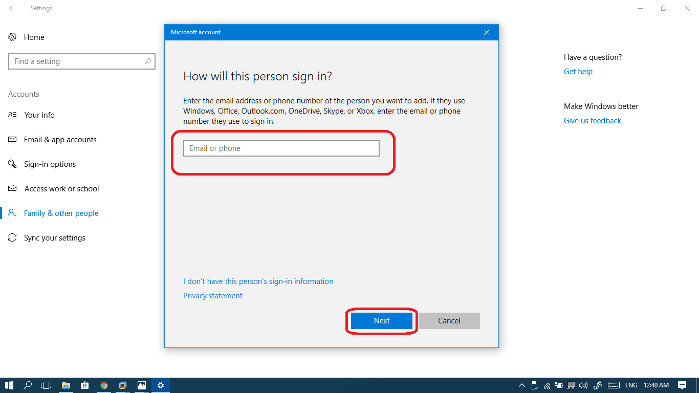 We can't sign into your account