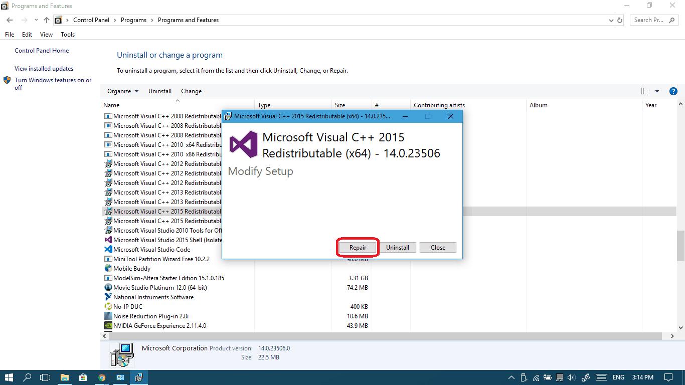 VCRUNTIME140 dll is missing - fix it - Win10 FAQ
