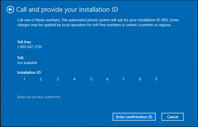 provide installation ID
