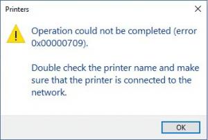 Fix error 0x00000709