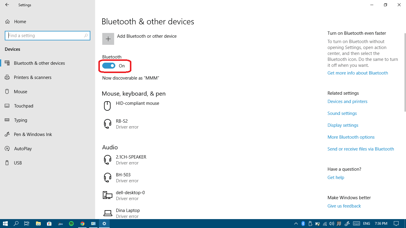 How to enable and use Bluetooth in Windows 10 - Win10 FAQ