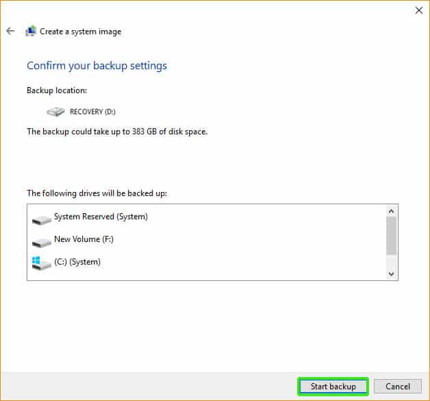 how to backup computer to external hard drive windows 10