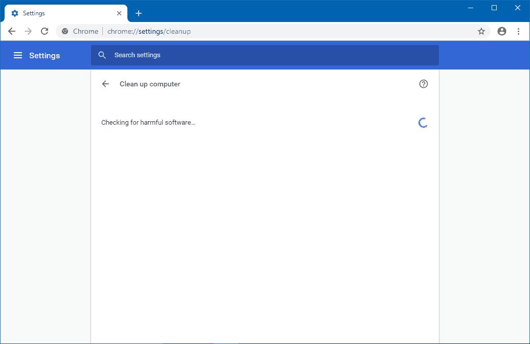 Fixing the Google Chrome error: