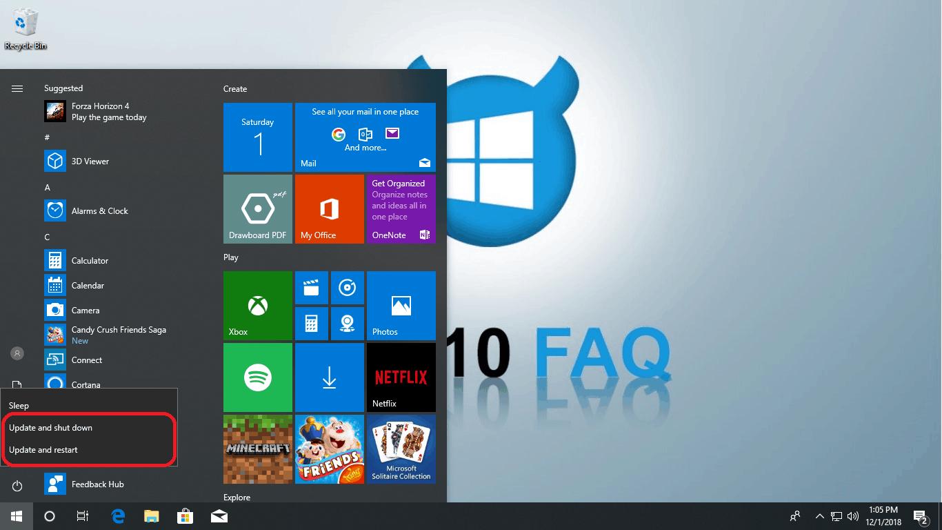 How to shutdown windows 10 without updating - Win10 FAQ